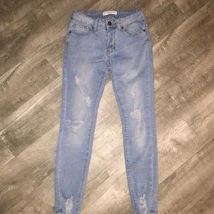 Skinny, Destroyed, Ankle Jeans